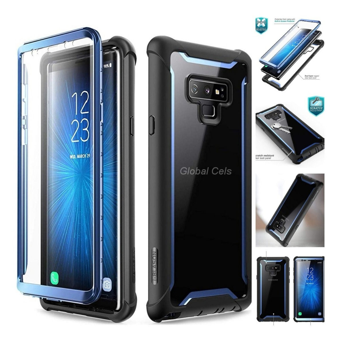 4a4e2bb7b8b Case Galaxy Note 9 8 S9 Plus Galaxy S8 Plus Carcasa 360° Usa - S ...
