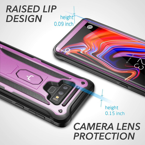 case galaxy note 9 s9 plus s8 plus s8 protector 360 c/ apoyo