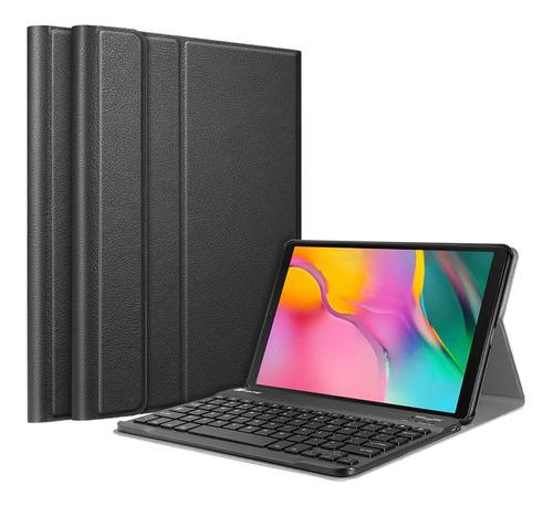 case galaxy tab s4 a 10.5 s5e 10.1 2019 c/ teclado bluetooth