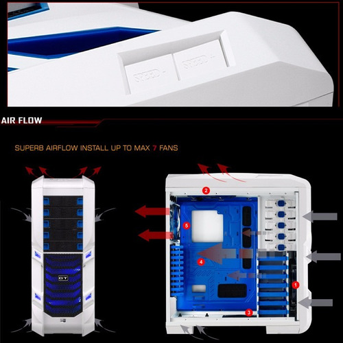 case gamer aerocool gt-s gamer full tower nuevo