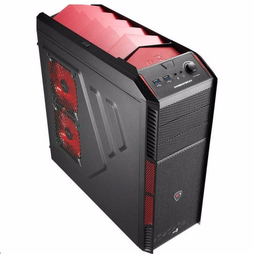 case gamer aerocool xpredator x1 devil red fuente real 550w