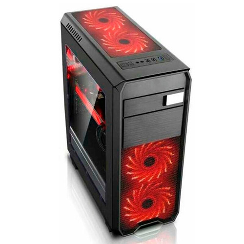 case gamer halion infinity rojo 550w real usb3.0 envios