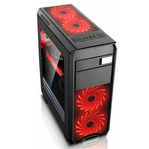case gamer halion infinity rojo 550w real usb3.0 envios