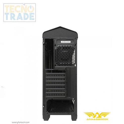 case gamer t5x pro armaggeddon black, incluye iva.