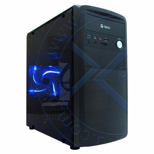 case gamer teros mini tower, atx 450w,sata,usb 3.0, audio hd