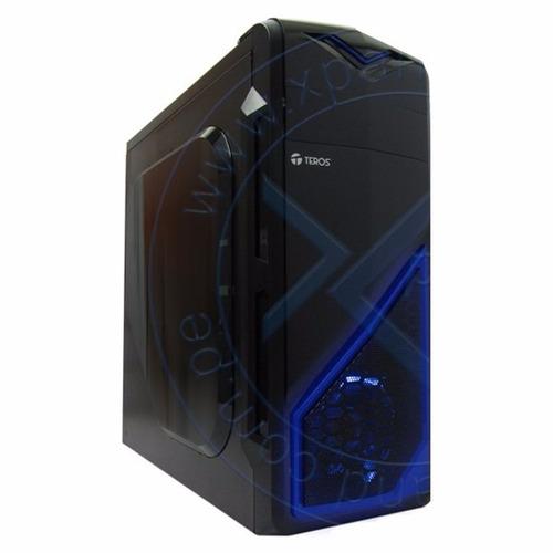 case gamer teros te-375bbl, atx 350w, sata, usb 3.0