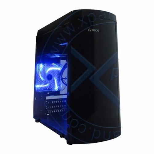 case gamer teros te-microd, atx 450w, sata, usb 3.0