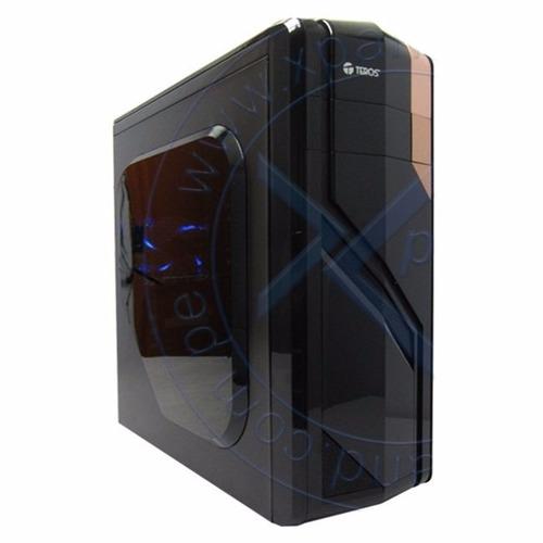 case gamer teros te-u1bl, atx 350w, sata, usb 3.0, usb 3.0
