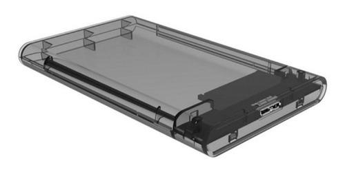 case gaveta externa hd ssd sata 2.5 usb 3.0 transparente 4tb