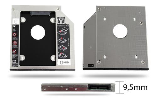 case gaveta para segundo 2 hd ssd no dvd 9,5mm dell asus hp