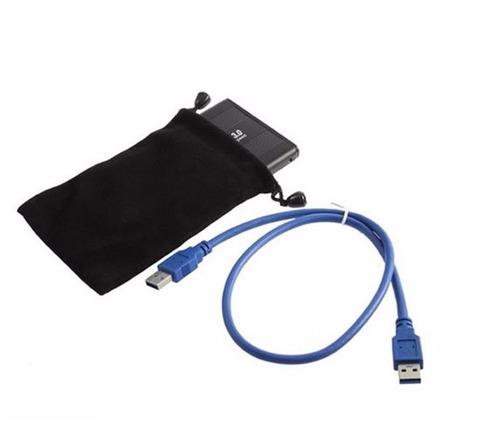 case gaveta usb 3.0 hd externo notebook sata 2,5 + capa
