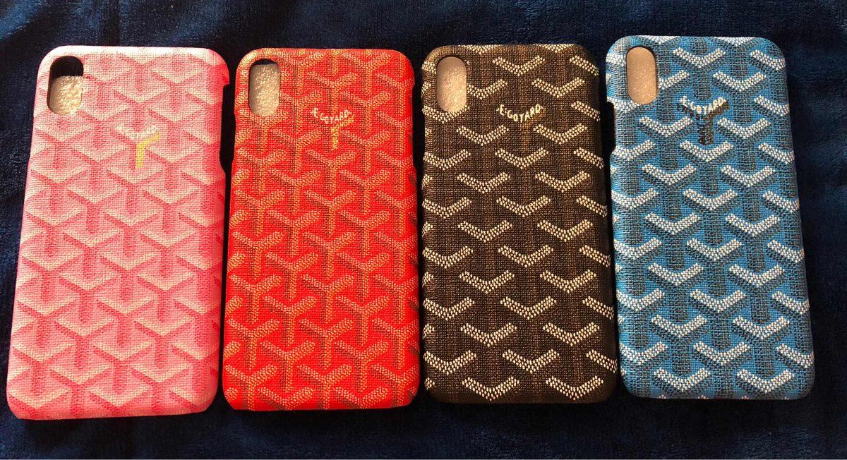 innovative design b1a6d 7e12a Case Goyard iPhone Xs Max Carcaza Nanoglass Apple Funda