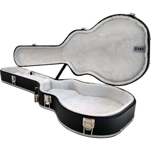 case guitarra les paul luxo gibson epiphone pelucia branca