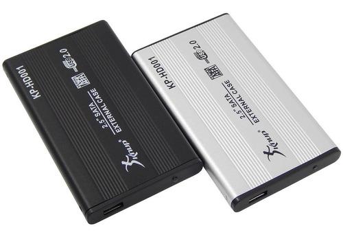 case hd 2,5 sata notebook usb 2.0 gaveta alumínio externo