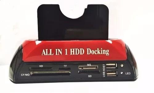 case hd all in 1 hdd docking usb 2.0 sata 2.5/3.5 e ide 3.5