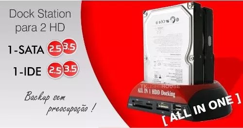 case hd all n1 hdd doking usb 2,0 ide/sata khd