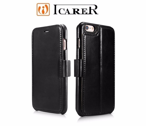 case icarer wallet cuero - iphone 6/6s
