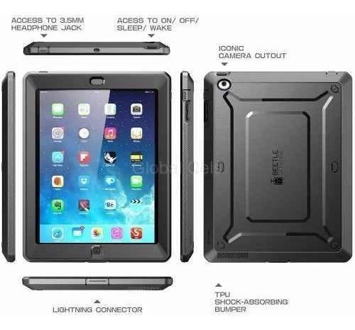 case ipad 4 3 2 funda supcase cover protector 100% extremo