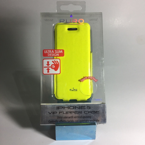case iphone 5 y 5s - forro - by puro - vip flipper case