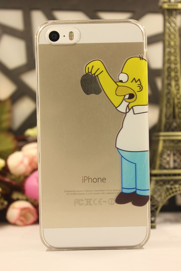 Funda crystal case homero simpsons bart iphone 4 4s regalo en mercado libre - Fundas iphone 4 4s ...