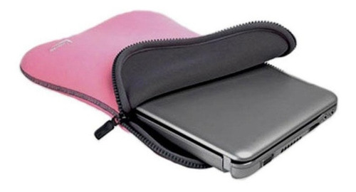 case leadership para netbook e tablets 10'' preta e rosa