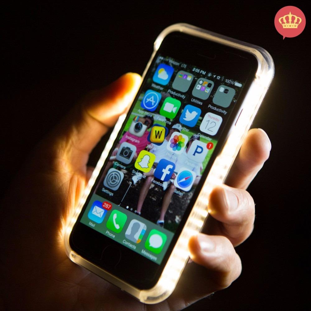 buy popular b0130 77bf9 Case Led Lumee Selfies Luz Branca iPhone 5s,6s 6 Plus