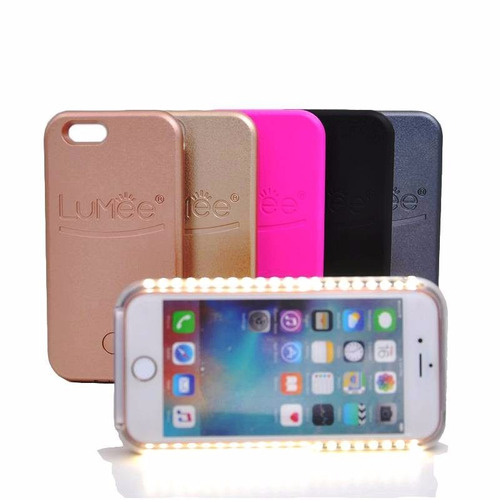 case led para iphone y samsung lumee case selfie flash light