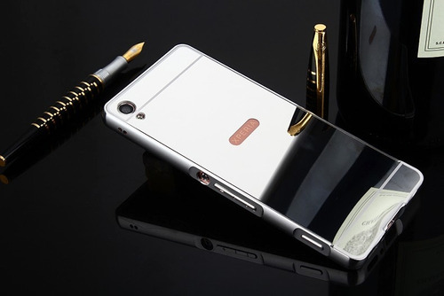 case luxury metal espejo sony xperia xa xa1 ultra xz