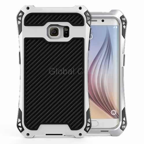 case metal galaxy s6 edge+ plus rjust silver extremo