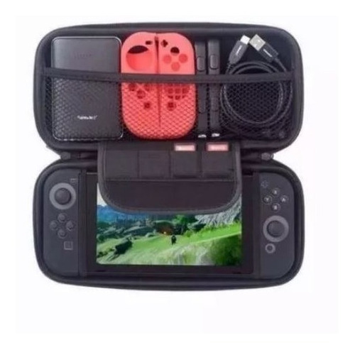case nintendo switch + película de vidro + par grip
