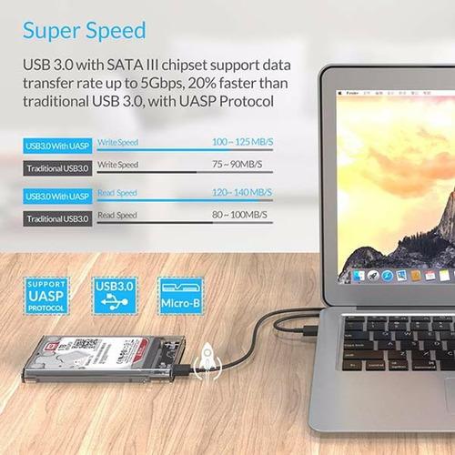 case orico disco duro 2.5 3.5 usb3.0 2/8tb 5gbps ps3  ps4