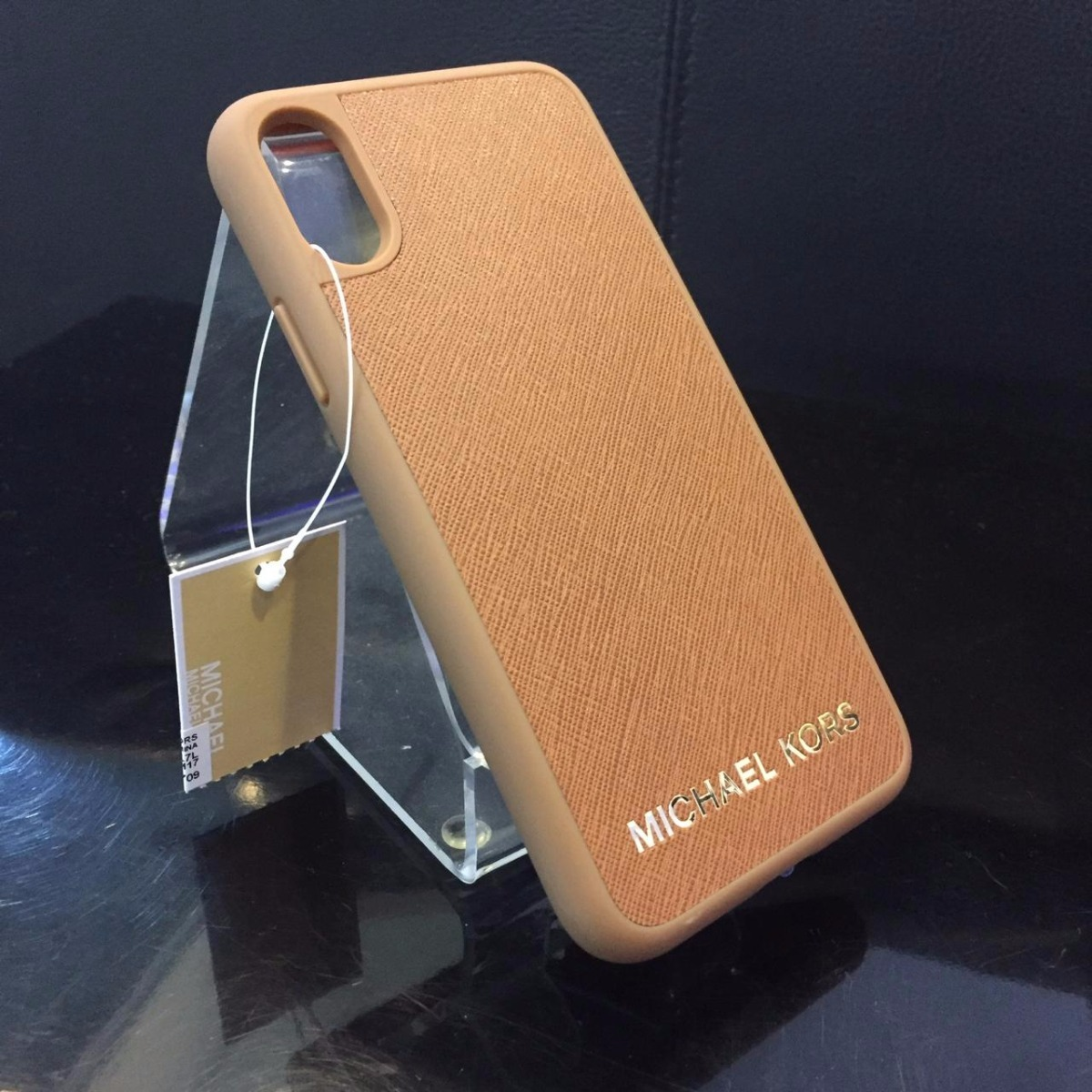 reputable site 3fcdf 8f112 Case Original Mk ( Michael Kors ) Couro - iPhone X / Xs