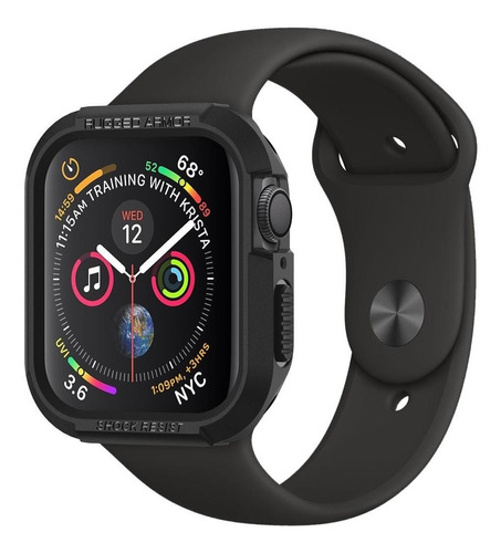 case original spigen apple watch s4 40mm rugged armor black