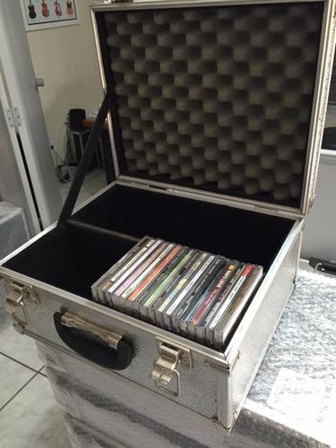 case para 66 cds tipo box ou 132 slim em aluminio stucco