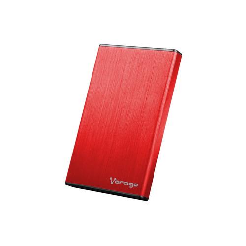 case para disco duro 2.5 hdd sata usb 2.0 vorago hdd102 rojo