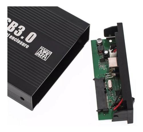 case para hd sata 3,5 externo usb 3.0 desktop pc aluminio