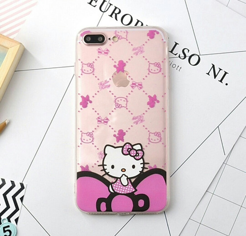 case para iphone 6, 6s, 7 diseño hello kitty