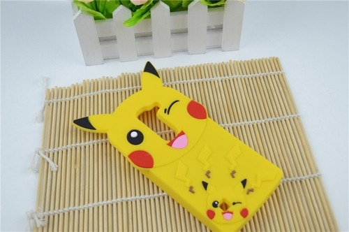 case para lg g4 stylus de goma picachu - pokemon