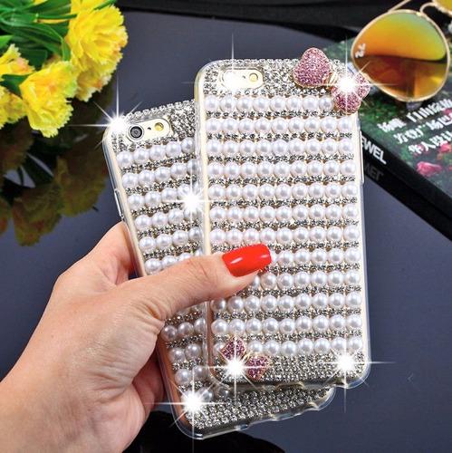 case para lg k8 2017 tpu con perlas