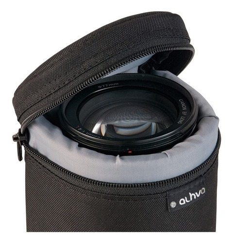 case para  objetiva, 70-300mm is, 135mm, etc 21x11cm (gg)