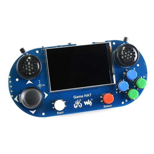 case para raspberry pi console portátil game hat