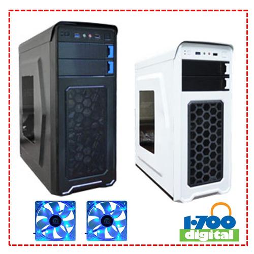 case pc gamer ventana. 2 ventiladores i5 i7 i3 micro atx amd