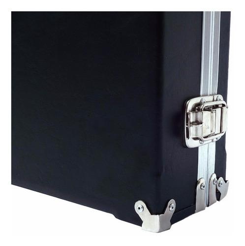 case pedal board para pedais pedaleira zoom boss 60x33x10 mf