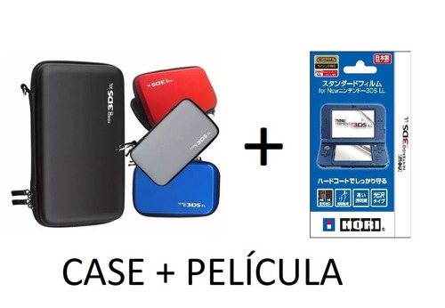 case + película 3ds xl / new 2ds e 3ds xl