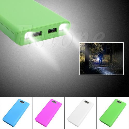 case power bank portable cargador 8 baterías 18650