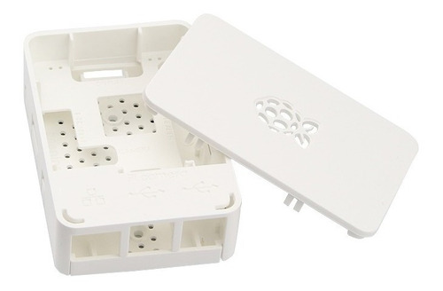 case premium raspberry pi 3 model b, b+ oficial cor branca