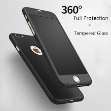 case protector 360° ipaky original+vidrio p/ iphone 6/7/plus