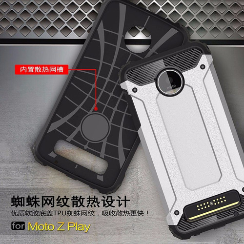 case protector cover tough armor tech motorola moto z play