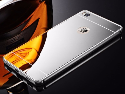 case protector de aluminio espejo para  huawei p8