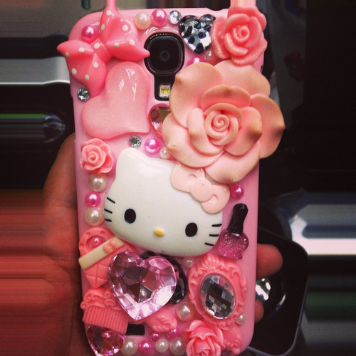 case protector diseño 3d hello kitty mujer samsung s4 s5